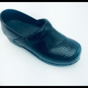 SANITA Leather Black Original DANISH Clog Sz 7
